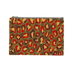 Stylized Background For Scrapbooking Or Other Cosmetic Bag (Large)