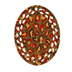 Stylized Background For Scrapbooking Or Other Oval Filigree Ornament (two Sides)