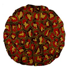 Stylized Background For Scrapbooking Or Other Large 18  Premium Round Cushions