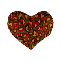 Stylized Background For Scrapbooking Or Other Standard 16  Premium Heart Shape Cushions