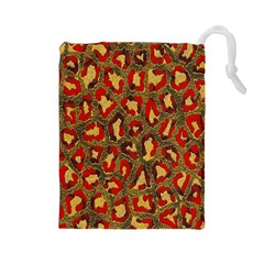 Stylized Background For Scrapbooking Or Other Drawstring Pouches (large)