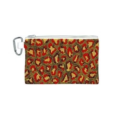 Stylized Background For Scrapbooking Or Other Canvas Cosmetic Bag (S)
