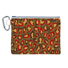 Stylized Background For Scrapbooking Or Other Canvas Cosmetic Bag (l)