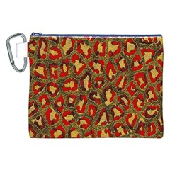 Stylized Background For Scrapbooking Or Other Canvas Cosmetic Bag (xxl)