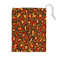 Stylized Background For Scrapbooking Or Other Drawstring Pouches (Extra Large)