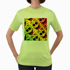 Abstract Background Backdrop Design Women s Green T-Shirt