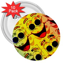 Abstract Background Backdrop Design 3  Buttons (10 Pack)