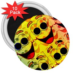Abstract Background Backdrop Design 3  Magnets (10 Pack)