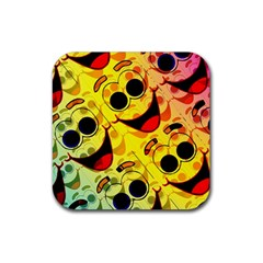 Abstract Background Backdrop Design Rubber Coaster (square)