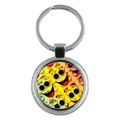 Abstract Background Backdrop Design Key Chains (round)