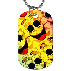 Abstract Background Backdrop Design Dog Tag (one Side)