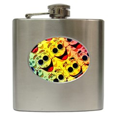 Abstract Background Backdrop Design Hip Flask (6 Oz)