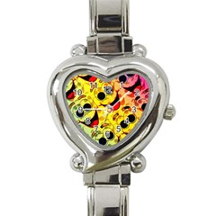 Abstract Background Backdrop Design Heart Italian Charm Watch