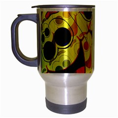 Abstract Background Backdrop Design Travel Mug (Silver Gray)