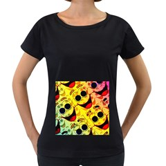 Abstract Background Backdrop Design Women s Loose Fit T Shirt (black)