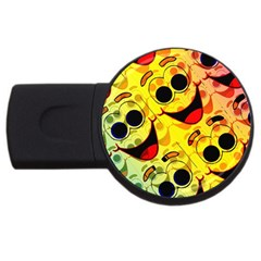 Abstract Background Backdrop Design Usb Flash Drive Round (4 Gb)