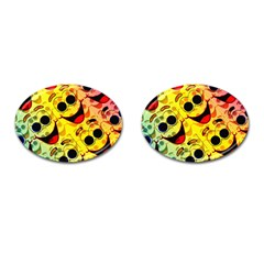 Abstract Background Backdrop Design Cufflinks (oval)