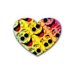 Abstract Background Backdrop Design Rubber Coaster (heart)