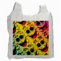Abstract Background Backdrop Design Recycle Bag (two Side)
