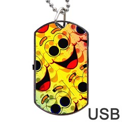 Abstract Background Backdrop Design Dog Tag Usb Flash (one Side)