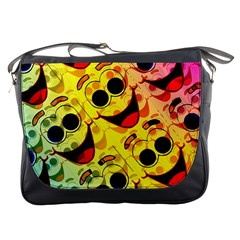 Abstract Background Backdrop Design Messenger Bags