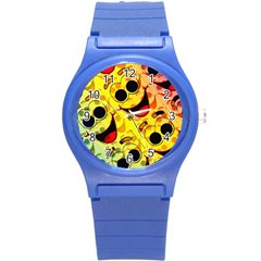 Abstract Background Backdrop Design Round Plastic Sport Watch (s)