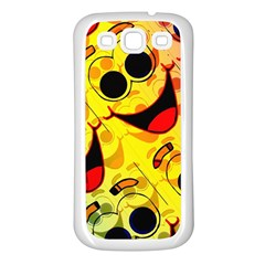 Abstract Background Backdrop Design Samsung Galaxy S3 Back Case (white)
