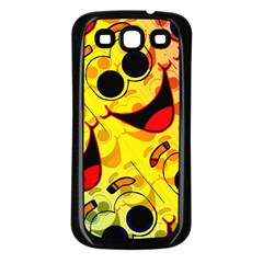 Abstract Background Backdrop Design Samsung Galaxy S3 Back Case (black)