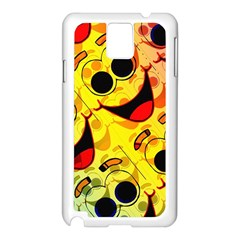 Abstract Background Backdrop Design Samsung Galaxy Note 3 N9005 Case (white)