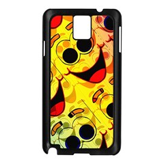 Abstract Background Backdrop Design Samsung Galaxy Note 3 N9005 Case (black)