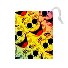 Abstract Background Backdrop Design Drawstring Pouches (large)