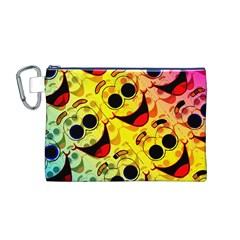 Abstract Background Backdrop Design Canvas Cosmetic Bag (m)
