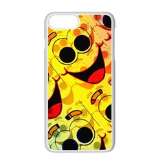 Abstract Background Backdrop Design Apple Iphone 7 Plus White Seamless Case