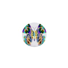 Abstract Animal Art Butterfly 1  Mini Buttons
