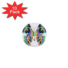 Abstract Animal Art Butterfly 1  Mini Buttons (10 pack)
