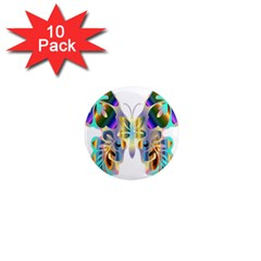 Abstract Animal Art Butterfly 1  Mini Magnet (10 Pack)