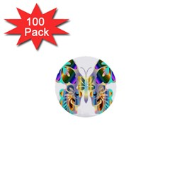 Abstract Animal Art Butterfly 1  Mini Buttons (100 pack)