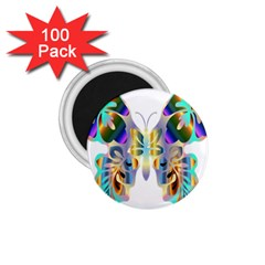 Abstract Animal Art Butterfly 1 75  Magnets (100 Pack)