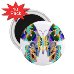 Abstract Animal Art Butterfly 2.25  Magnets (10 pack)