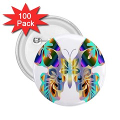 Abstract Animal Art Butterfly 2 25  Buttons (100 Pack)