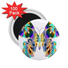 Abstract Animal Art Butterfly 2.25  Magnets (100 pack)