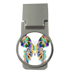 Abstract Animal Art Butterfly Money Clips (round)
