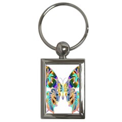Abstract Animal Art Butterfly Key Chains (rectangle)