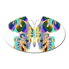 Abstract Animal Art Butterfly Oval Magnet