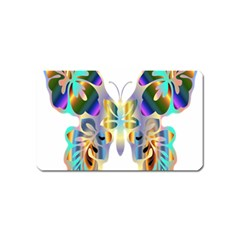 Abstract Animal Art Butterfly Magnet (name Card)