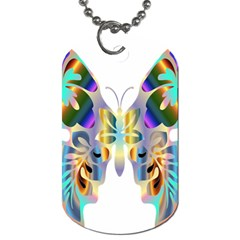 Abstract Animal Art Butterfly Dog Tag (One Side)
