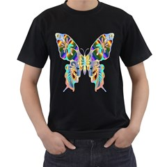 Abstract Animal Art Butterfly Men s T Shirt (black) (two Sided)