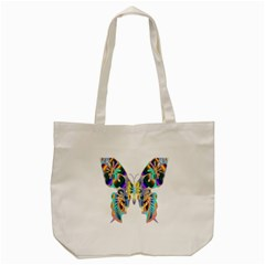 Abstract Animal Art Butterfly Tote Bag (Cream)