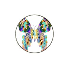 Abstract Animal Art Butterfly Hat Clip Ball Marker (4 Pack)