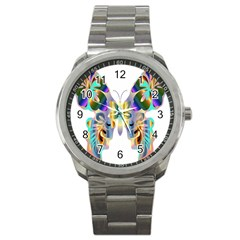 Abstract Animal Art Butterfly Sport Metal Watch